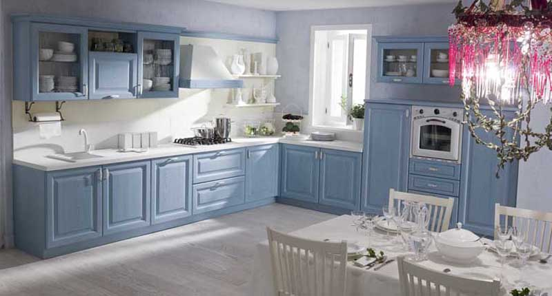 Cucine classiche laccate, decapè e in castagno | OS.MA. Arredamenti ...
