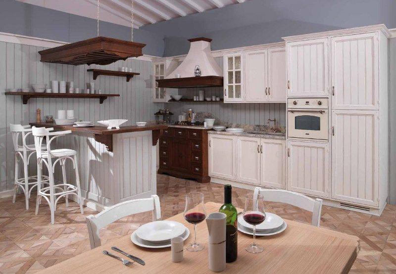 Cucina country dogata for Arredamenti country