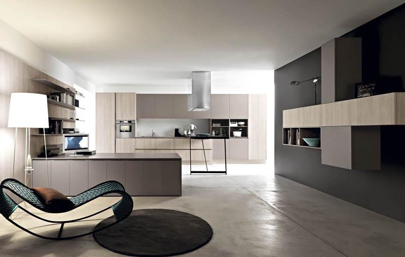 Cucine moderne in laminato e in rovere os ma for Registro casa schemi