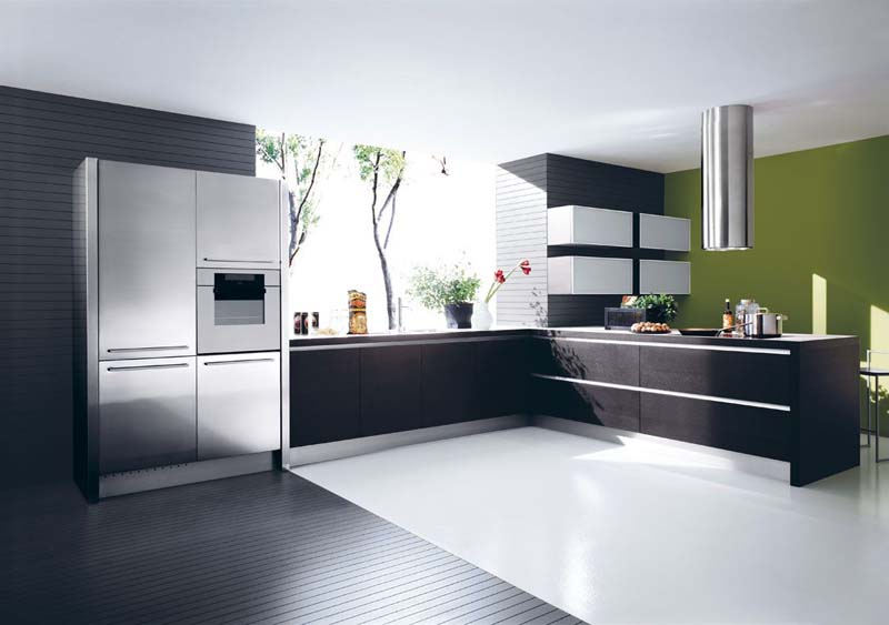 Cucine moderne in laminato e in rovere os ma for Immagini cucine moderne