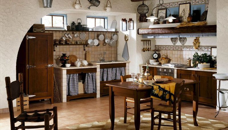 Cucine design country chic cucine in muratura componibili cucine ...