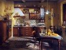Cucina rustica con anta a telaio e bugna